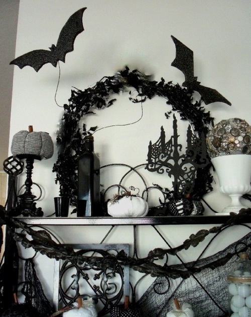scary white halloween decorations ideas bath room indoor black design