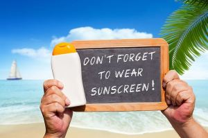 Text Message - Dont Forget To Wear Suncreen On A Slate